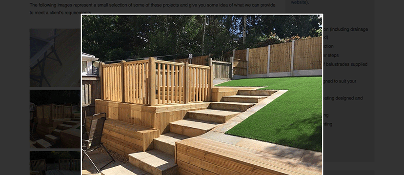 Stafford decking project example
